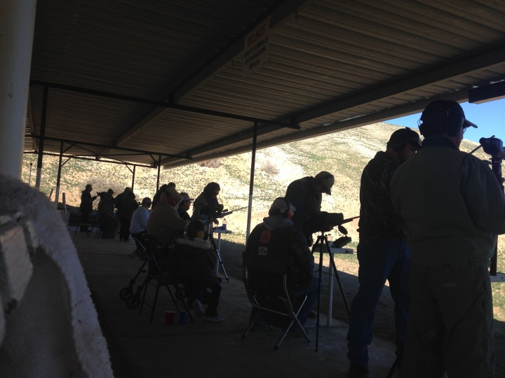 On the rifle line at the 2015 Champs.