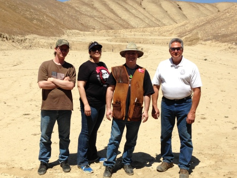 The winners circle from my last smallbore match: (l-r)Meccastreisand, Inez, George, Edo